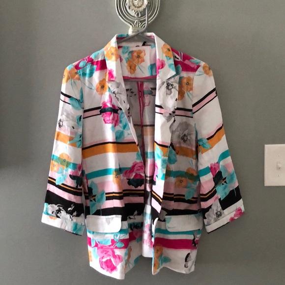 Vintage Jackets & Blazers - Vintage floral blazer